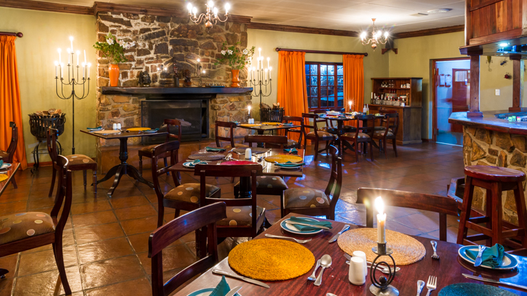 Misty Mountain enjoy dinner in our hearty restaurant